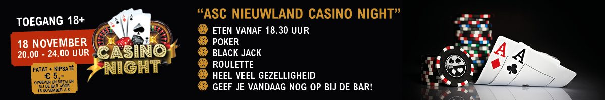 Casino Night 18+ bij ASC!