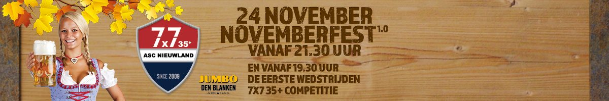 7x7 35+ gaat weer van start met het Novemberfest!