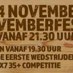 7×7 35+ gaat weer van start met het Novemberfest!