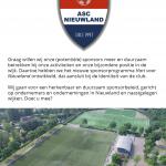 """Aftrap sponsorprogramma """"Hart voor Nieuwland"""""""