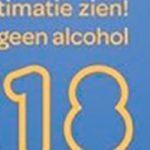 Geen alcohol onder de 18!