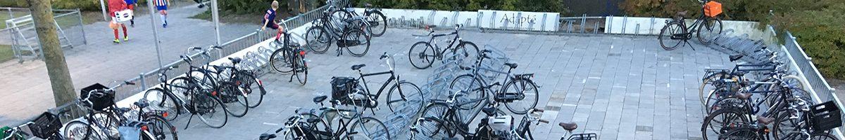 Fietsen in de fietsenstalling!