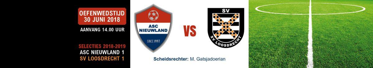 30 juni: oefenwedstrijd Nieuwland 1